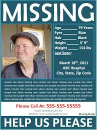 Lost Person Poster
