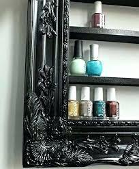 diy nail polish rack frame a wall nail polish display with picture frame or frame maybe diy nail polish rack