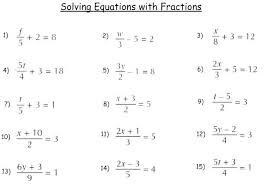 solving equations algebra worksheets