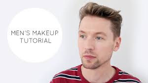men s natural looking makeup tutorial using mmuk man s