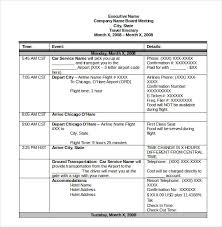 Word Travel Itinerary Template Itinerary Template 14 Free Word Excel Pdf Documents