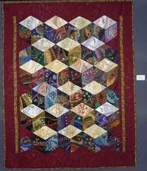 Work in Progress Wednesday: Assembling a crazy quilt, tying the ... & Diamond block crazy quilt Adamdwight.com