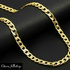mens gold chains link cuban necklace