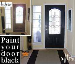 black front doorBlack painted front door and it wasnt an epic fail