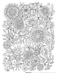 Free Printable Coloring Pages Flowers And Butterflies For Teenagers