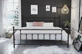 Metal Bed Frame Antique King Size Bed Rustic Vintage Victorian ...