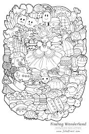 Drawings related to this style can concern humans, animals or of course totally imaginary and wacky creatures. Kawaii Coloring Pages For Adults