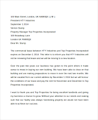 mercial Lease Termination Letter