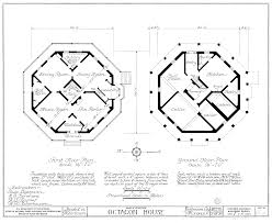 Pod House Plans Octagon House Plans Home Vintage Blueprint Design Custom Building