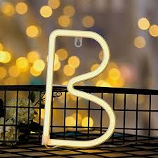 delicore neon letter sign night lights led alphabet neon art lights wall decor light up words for wedding birthday party home bar decoration b