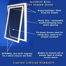 pet door for sliding screen patio doors