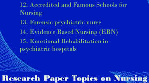 research paper topics on nursing