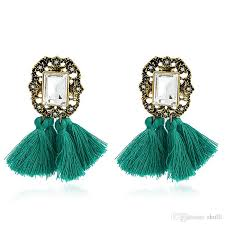 2018 gold crystal gold plated chandelier earrings earing gold new fashional manufactured in china green red black from shulll 50 26 dhgate com