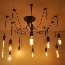 steampunk lighting. Vintage Edison Industrial Steampunk Light Loft Chandelier Ceiling Pendant Lamp Lighting L