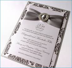 25th wedding anniversary invitation wording for pas awesome stunning wedding invitation card with ribbon 19
