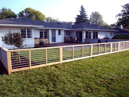 wood and galvanized metal sheets fence