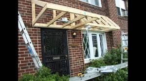 how to build a front doorPent Roof Over Door Slideshow  YouTube
