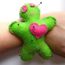 inspired voodoo doll pin cushion