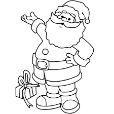 Happy Santa Claus Coloring Pages Christmas