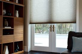 cordless cellular shade as one piece for this family room french doors