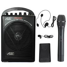 sound system with mic. audio 2000 604bhl battery powered dual channel wireless microphone portable pa system sound with mic c