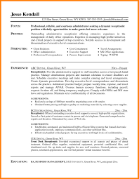 Receptionist Resume With No Experience Top Medical S Peppapp