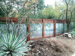 wood framed corrugated metal fence and sheet diy used