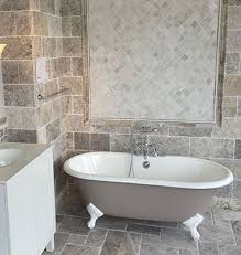 large tile in small bathroom