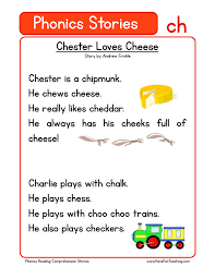 The grapheme 'ch' is used to encode (spell) different sounds in english. Chester Loves Cheese Ch Phonics Stories Reading Comprehension Worksheet Have Fun Teaching