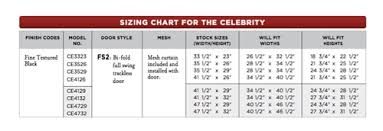 Fireplace Door Size Chart Thermorite Celebrity Glass Fireplace Door