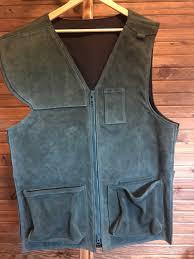 hardscrabble mountain custom leather silhouette vest green
