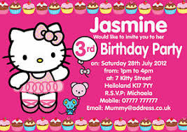 Hello Kitty Invitation Details About Hello Kitty Personalised Party Invitations X10 B Day Invites Or Thank You Notes