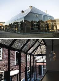 glass brick farmhouse illusion