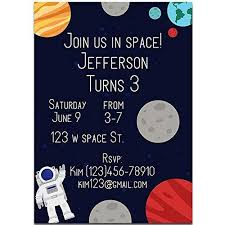 Space Party Invitation Amazon Com Astronaut In Space Birthday Party Invitations