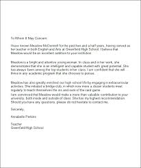 Best Photos of High School Recommendation Letter Template   High