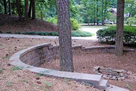 retaining wall around tree round designs gallery