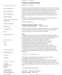 Most System Administrator Resume Amazing Systems Cv Sample