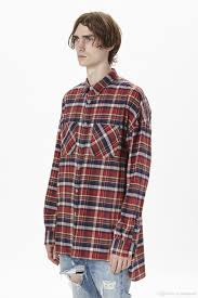 Mens Designer Flannel 2019 Mens Designer Shirts Fear Of God Plaid Shirts Fog Flannel Yellow Red Shirt Kanye West High Street Wear From Vogueapparel 61 16 Dhgate Com