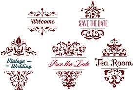 ornamental wedding frames vector