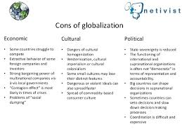 pros and cons of globalization cons