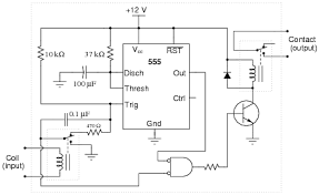 time delay electromechanical relays digital circuits worksheets hint the 555 s timing capacitor will charge from 0 volts to 2 3 supply voltage during the charging cycle