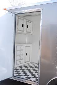 Cabinets For Cargo Trailers Enclosed Trailer Options Leonard Buildings Truck Accessories