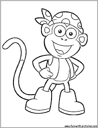 Free Dora The Explorer Coloring Pages Boots Coloring Store