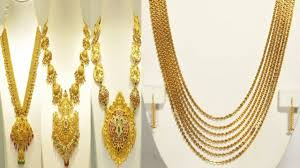 Gold Necklace And Haram Set Designs Gold Necklace Designs In 40 Grams 15 Evergreen Collection