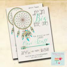 Dream Catcher Baby Shower Invitations Boy Boho Dream Catcher Baby Shower Invitation 3