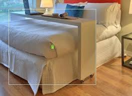 desk over queen bed rolling table guest counter example only these are custom white over