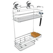 suction shower caddy home solutions hanging shower rustproof stainless steel includes suction shower caddy nz
