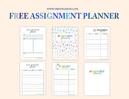 Free Homework Planner Printable Assignment Calendar Free Assignment Planner For Kids And