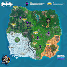 Light Up Bat Signal Fortnite Fortnite Welcome To Gotham City Challenges Cheat Sheet Map
