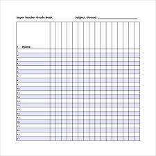 Sample Gradebook Template 7 Free Documents In Pdf Word